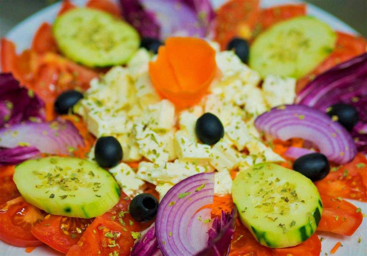 Greek Salad Gluten Free Vegetarian Restaurants Madrid