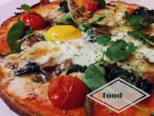 Artemisa pizza with mushrooms and egg